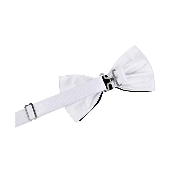TIE G Solid Color Pre-tied Bow Tie and Pocket Square Sets in Gift Box