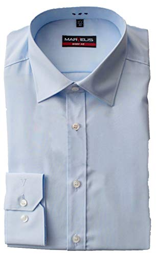 Marvelis-Hemd 6799-69-10 BODY-FIT extra langer Arm hellblau 100% BW: Farbe: hellblau | Kragenweite: 42