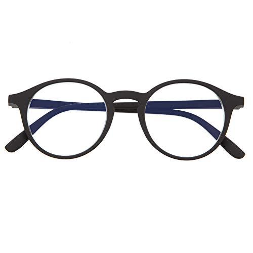 DIDINSKY Blaulichtfilter Brille für Damen und Herren. Blaufilter Brille mit stärke oder ohne sehstärke für Gaming oder Pc. Gummi-Touch-Tempel und Blendschutzgläser. Graphite 0.0 – UFFIZI