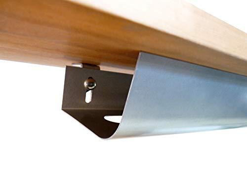 KabelOrdnung - Schreibtisch Kabelkanal | Stabile Untertisch Kabelwanne | L: 80 cm, B: 16 cm, H: 8 cm | Abklappbar | Kabelhalterung inkl. Schrauben