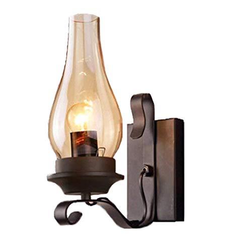 Elitlife Rustikale Wandleuchte Antik Wirkende Innen Kreativwirtschaft Eisen WandlampeRustikalem Design Schwarz [Energieklasse A+++]
