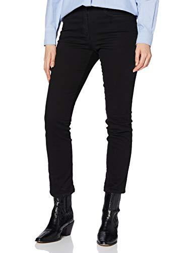 BRAX Mary Crystal Romance Damenjeans: Slim Fit Jeans im 5-Pocket-Style, Schwarz (Clean Black Black 2), Gr. W32/L32 (Herstellergröße: 42)
