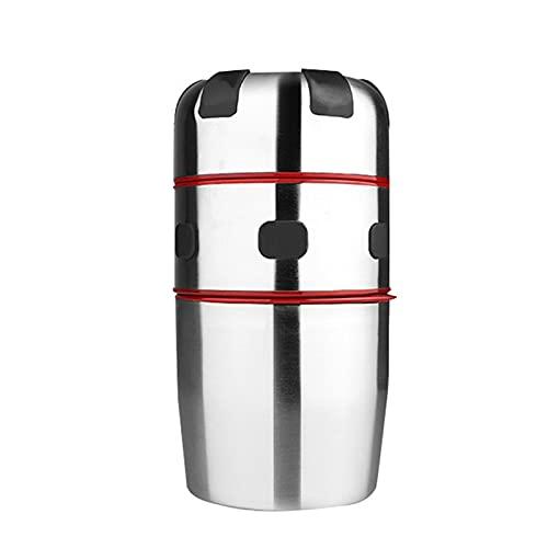 Qagazine Exprimidor manual con colador y contenedor exprimidor de manos cítricos y naranja con taza incorporada y rallador para el hogar, cocina, viajes al aire libre