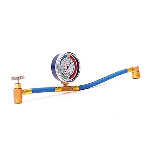 Piezas de aire acondicionado CA AC Aire acondicionado R134A Manguera de recarga refrigerante con medidor de presión Kit de medición Accesorios para automóviles Piezas de aire acondicionado automotriz