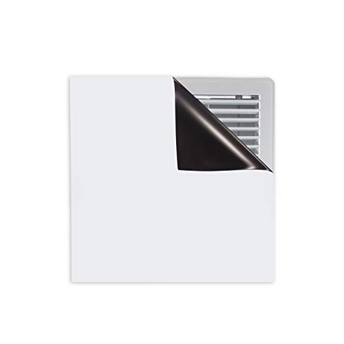 Strong Magnetic Vent Covers - Thick Magnet for Standard Air Registers - for RV, Home HVAC, AC, and Furnace Vents - Pure White Magnetic Sheet - 8 inch X 8 inch (3 Pack)