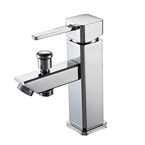Waterkraan van koper, eengatmontage, Hei Szlig; koude regeling van de badkamer ten opzichte van de wastafel voor badkuip 32 mm tot 40 mm, kan worden geïnstalleerd (afmetingen: 10 cm x 18 cm) 10CM*18CM