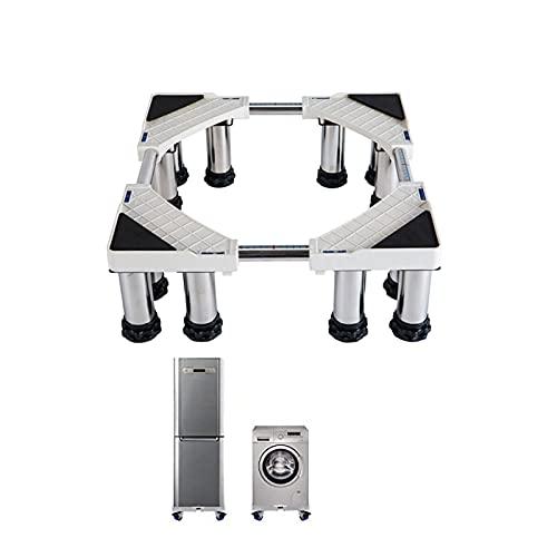ZHYLing Base Lavadora Ajustable, Ajustable en tamaño Soporte Secadora Universal, con 12 pies Fuertes para Lavadora, Secadora BesBet