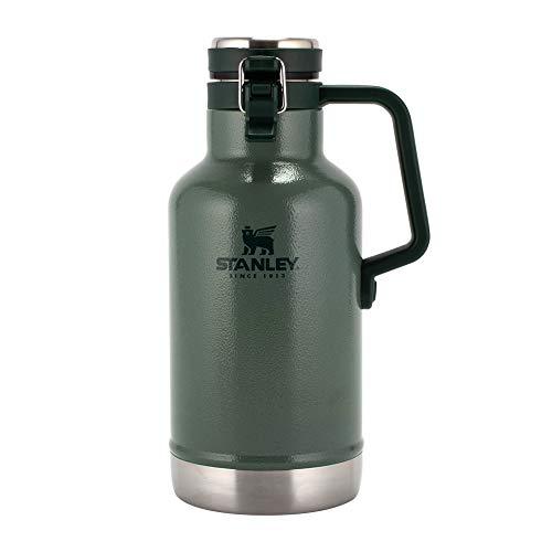 [ スタンレー ] Stanley 水筒 新ロゴ クラシック 真空グロウラー ジャグボトル 1.9L 10-01941-063 ハンマートーングリーン CLASSIC EASY-POUR GROWLER 64oz Hammertone Green ステンレスボトル 保温 保冷 魔法瓶 [並行輸入品]