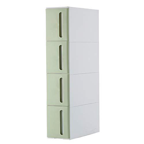 YULAN-plank in Scandinavische stijl gewatteerde opslagkast smal kan worden gestapeld meerlagig ladekast badkamer opslag rek slaapkamer woonkamer rack