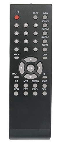 VINABTY Replaced Remote fit for Curtis LCD TV LCD2425A LCD3227A LCD3708A LED1337A LCD1933A LCD4620A LCD1908A LCD3235A LED2415A LED1526A LCD4686A LCD4686A-W LCD4077A LCD4062A LCD3208A