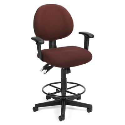 BEF7637054 - Best Burgundy 24-Hour Drafting Chair with arms