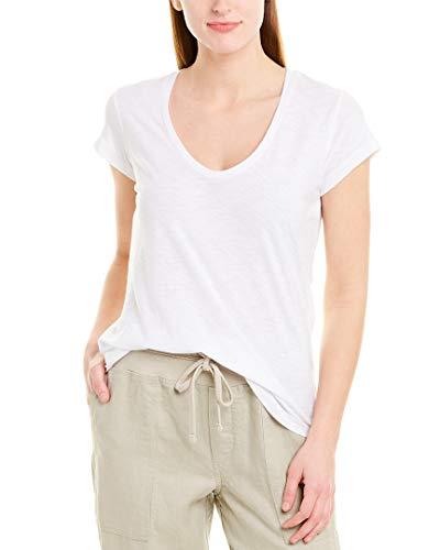 James Perse Casual Sheer Cap Sleeve TEE in White 3