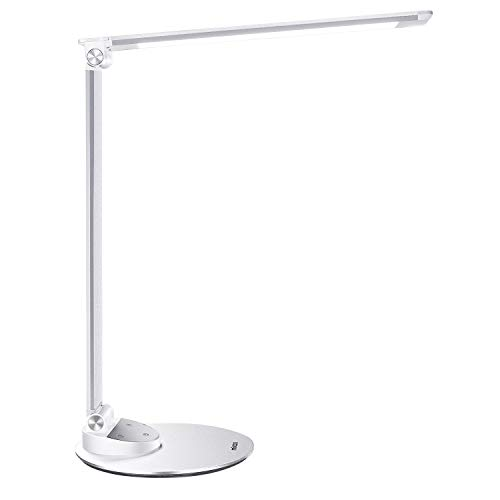 LED Desk Lamp, Miroco Aluminum Alloy Table Lamps with USB Charging Port, Memory Function, 5 Color...