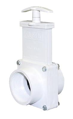 "Valterra 4207 PVC Gate Valve, White, 2"" FPT by Valterra Products"