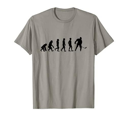 Evolution Eishockey | Eis Hockey Spieler Puck | Geschenk T-Shirt