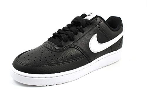 Nike Damen Court Vision Low Sneaker, Black/White, 38 EU