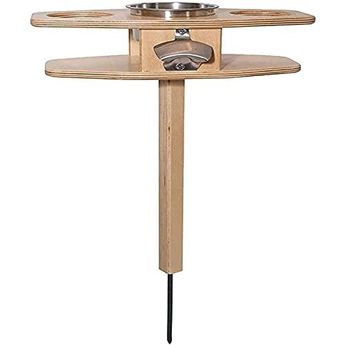ZBQLKM. Picnic Table Snack Table in legno Outdoor Pieghevole Picnic Tavolo da picnic Portatile Birra di legno Bicchieri di vino e bottiglia Tavolo Snack e supporto per il formaggio per il cortile este