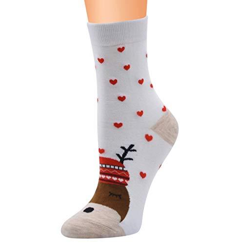 Christmas Socks, Ladies Premium Ladies Rudolph Reindeer Festive feet Cotton Rich Novel Christmas Socks, Christmas Gifts