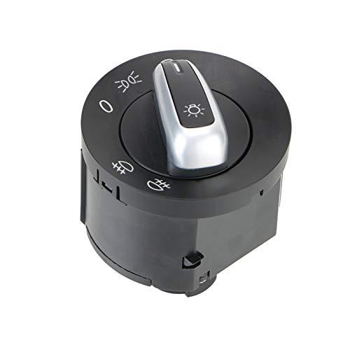 SHENG Accesorios para Automóviles Interruptor Faro Fog Lámpara Luces De Marcador Lateral Auto Reemplazo Ajuste para VW Passat B6 Golf 5 6 Jetta MK6 Tiguan Asiento (Color : Black)