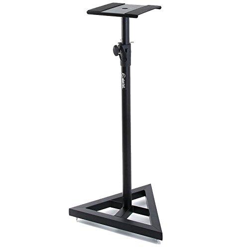 Adam Hall Stands SKDB039 höhenverstellbarer Studio Monitor Ständer schwarz pulverbeschichtet