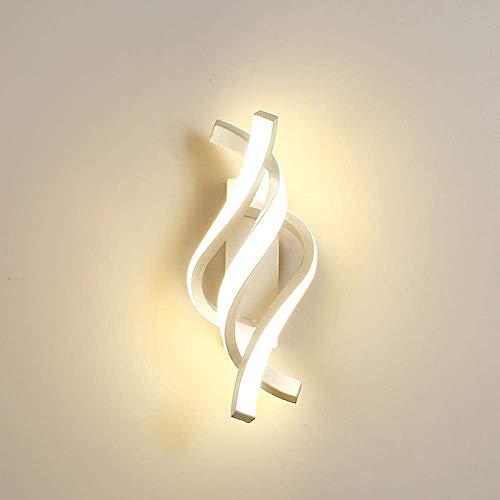Aplique de Pared LED, 16W Lámpara de Pared Interior, Moderno Lámpara para Salon Pasillo Escalera Dormitorio 6000 K (Luz Fría)