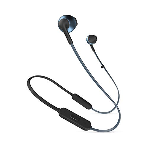 JBL JBLT205BTBLUAM in-Ear, Wireless Bluetooth Headphone, Blue
