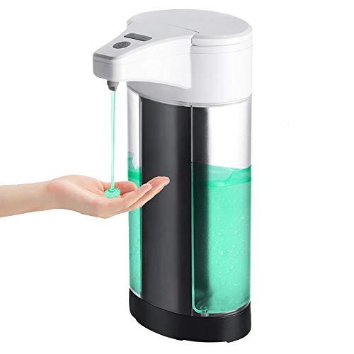 WIFORT Dispenser Sapone Automatico, IPX7 Impermeabile Erogatore Sapone da Muro, Distributore di Sapone con Sensore di Infrarossi, Dosatori Sapone Liquido 400mL Bagno Cucina