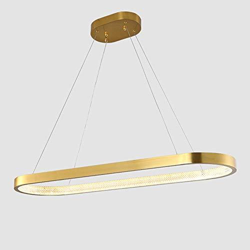 Wohnzimmer Groß Esstisch Hängelampe LED Dimmbare Fernbedienung Ring Pendelleuchte Büro Konferenztisch Gold Hängleuchte Esszimmer Designer Lampe...