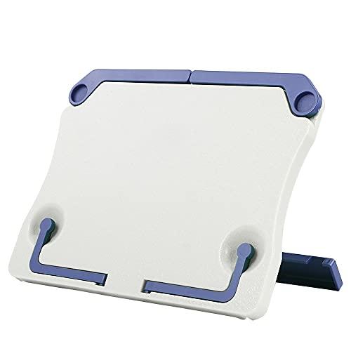 yonghe Soporte plegable portátil para libros de lectura, estante de recetas, organizador plegable para tableta de partitura de música (color : E)