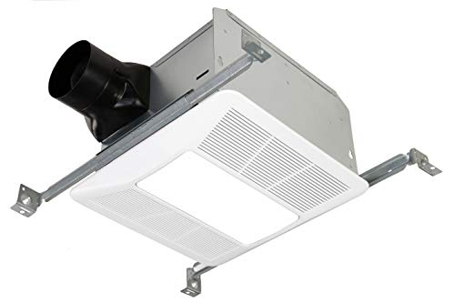 KAZE APPLIANCE Ultra Quiet Bathroom Exhaust Fan with LED Light and Night Light (90 CFM, 0.5 Sone)