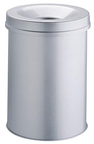 Durable 330523 Corbeille à papier Anti-éraflure + Métal 15L Argent