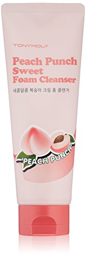 TONYMOLY Peach Punch Sweet Foam Cleanser, 5 Fl Oz