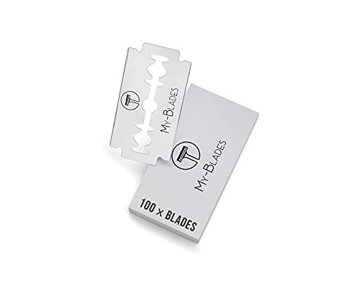 My-Blades® die Nachhaltigen Premium Rasierklingen (80% Recycelt) - inkl. Alaunstein -100x Doppelklingen für Rasierhobel