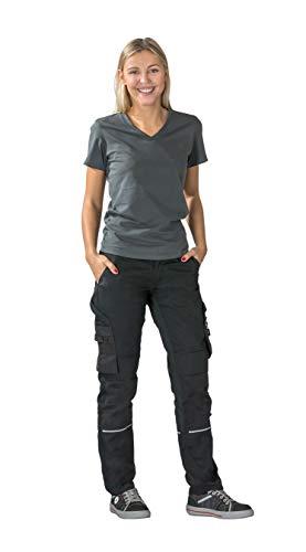 Planam Norit Damen Bundhose, Farbe: Schwarz/Schwarz, Größe: 36