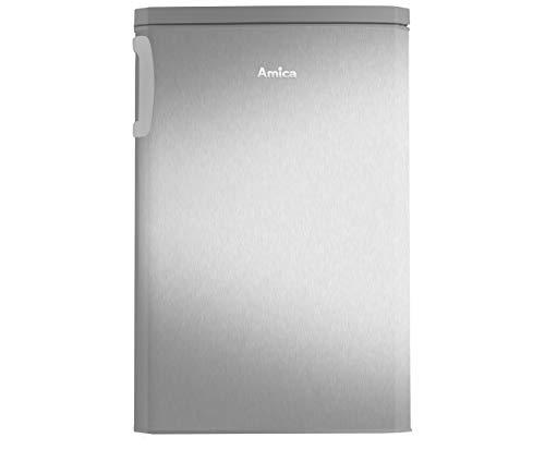 Amica KS 361 112 E Kühlschrank mit Gefrierfach - Edelstahl-Optik, A+++