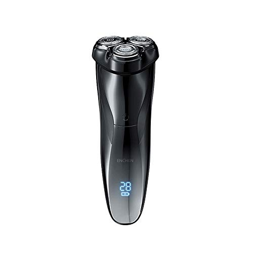 Enchen Blackstone 3 IPX7 Waterproof Electric Shaver, 3D Independent Floating Cutter Head 5W Low Noise Smart Anti-Pinch Beard Men Trimmer with Fast Charge, Smart Lock