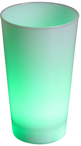 LED-Highlights Glas Becher Leuchtbecher 450 ml LED Farbwechsel bunt Rgb mit Batterie wechselbar Bar Kunststoff beleuchtetes Trinkglas Cocktail