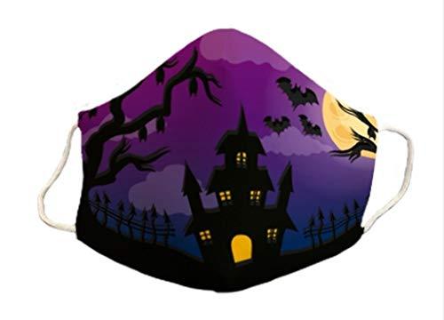 Mascarilla homologada Halloween 3 capas lavables reutilizables diseño...
