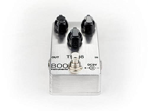 Boo Instruments Tube Screamer Overdrive TS-808 TS-9 - Pedal de efectos (distorsi?n), metal pulido