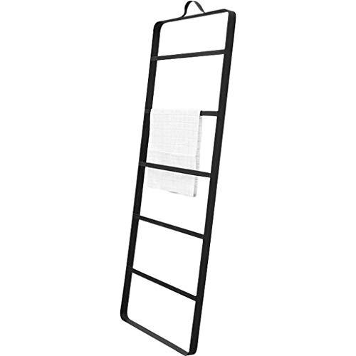 DBAF Toallero de baño, toallero de baño Artículos para el hogar Piso Toallero móvil Barra de Hierro Forjado (140 * 50 cm) Colgador de Piso, Espiral Minimalista Moderna