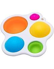 Hjärnleksaker dimpl små fingrar kan inte motstå dessa vackra knappar fem vibrerande silikonbubblor i varierande (A)