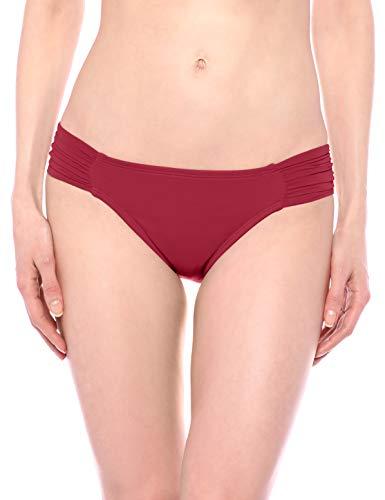 La Blanca Women's Standard Island Goddess Side Shirred Hipster Bikini Swimsuit Bottom, Wine, 6