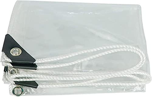 SJQ Lámina de Lona Transparente Resistente al Polvo, Resistente a la Lluvia, Transparente, para el Suelo, Aislante antienvejecimiento, película de Vidrio Suave de PVC para Muebles de jardín, COC