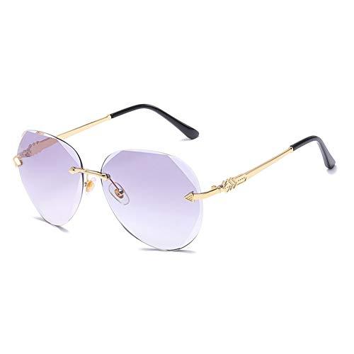 HONGYAN Gafas de Sol para Gafas de Sol de piloto sin Montura para Mujer Lente graduada Protección UV400 Gafas de Sol para Mujer de aviación