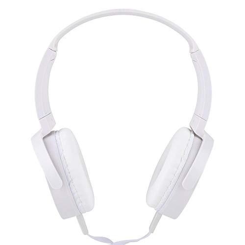 Subwoofer Stereo Wired Headset, Rauschunterdrückung Rotierender Subwoofer Audio Stereo Wired Headphone, tragbar, Rotary Shaft Design, Unterstützung für Smartphone-Anrufe(Weiß)