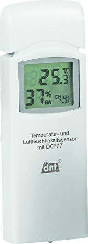 DNT Zusatz-Thermo-/Hygrosensor für dnt RoomLogg PRO und dnt WeatherScreen PRO, 868 MHz, DNT000005