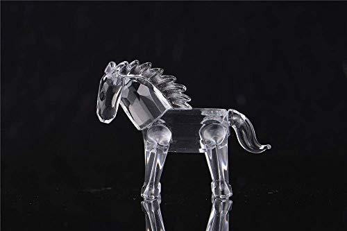 AMITD Kristalfiguren, schattig Sika-hert, kristal, microfiguren, helder glas, kunst, wilde dieren, briefpapier, verzamelaarsstuk, tafeldecoratie paard