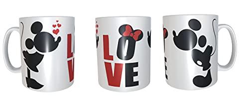 Los Eventos de la Tata. Tazas de Mickey y Minnie Love