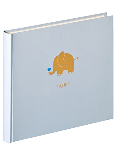 walther design MT-148-L Babyalbum Meine Taufe Baby Animal, Blau, 28x25 cm