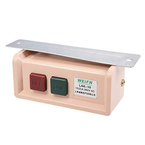 DealMux Start Stop Interruptor de botón de encendido/apagado Máquina de coser industrial Motor de embrague